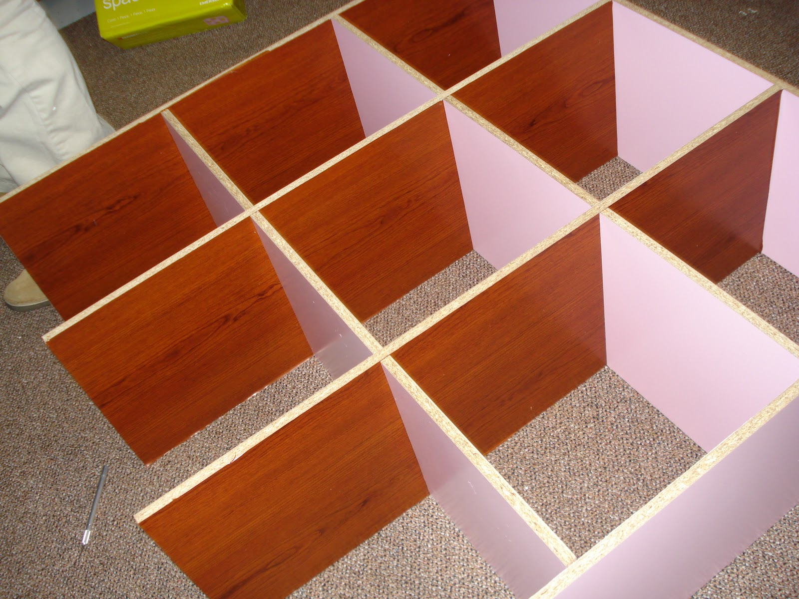 9 cube bookshelf plans
